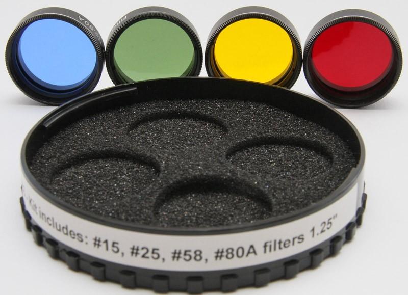 365Astronomy No 553 Lunar & Planetary Filter Set - 1.25-inch
