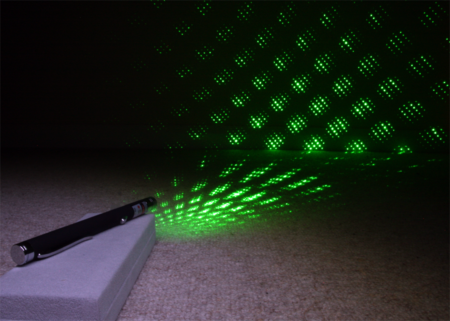 Powermaster 5mW Green Laser Pointer & Starriness Laser Show