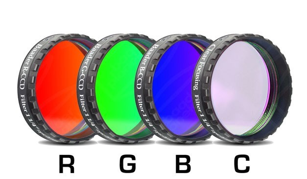 "Baader RGBC-CCD-Filter-Set 1'/4"" RGB +Clear-Glass-Filter"