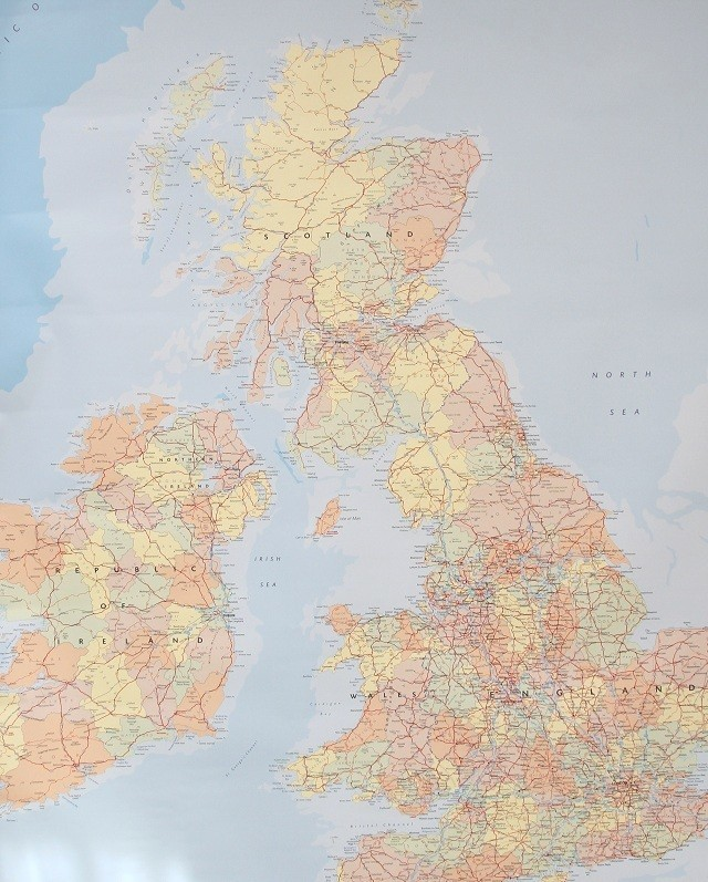British Isles and Eire Map