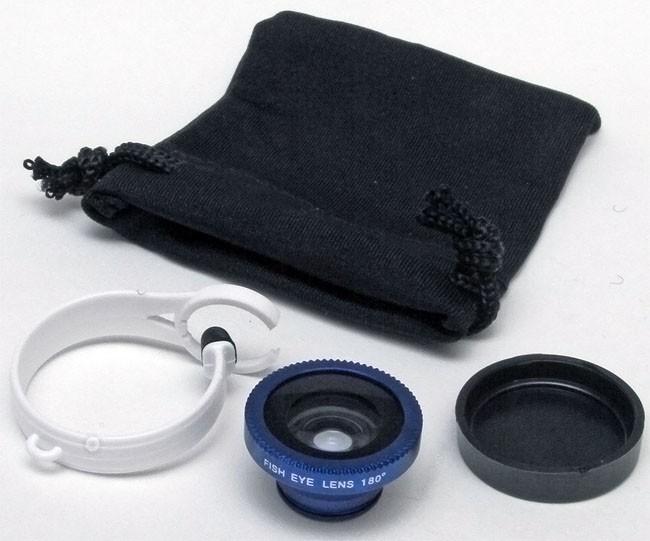 Circle Clip 180 degree Fisheye Lens for iPhone HTC Samsung Smartphone BLUE