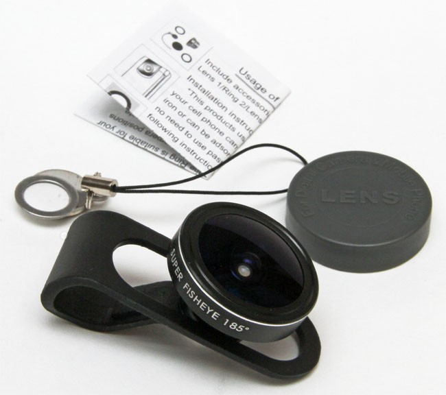 Universal Clip 185 degree Super Fisheye Lens for iPhone HTC Samsung Smartphone