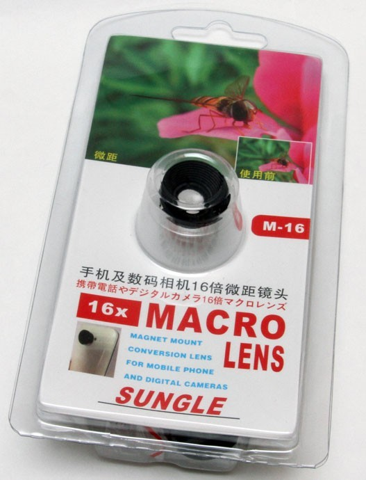 Detachable 16x Macro Lens for Smart Phone iPhone Samsung Galaxy