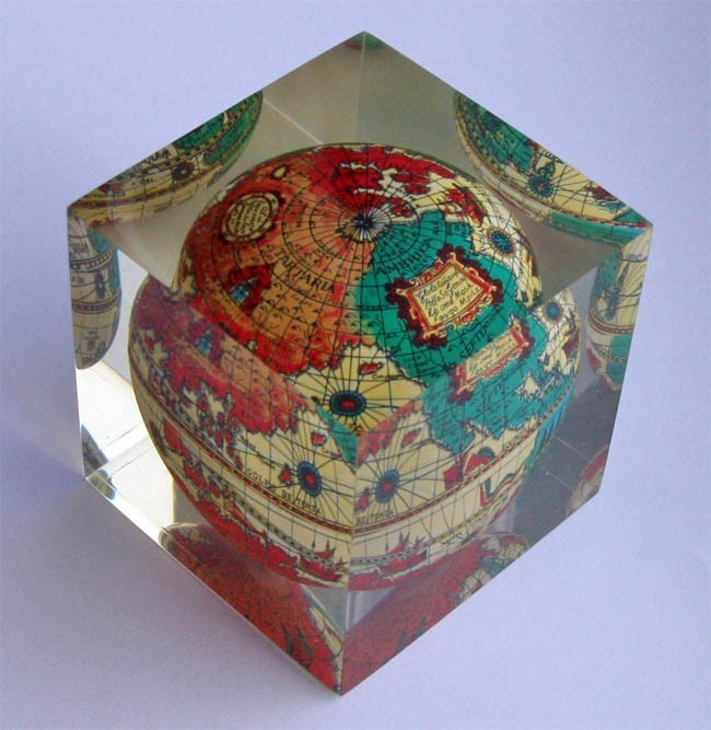 The BOX Antique Paperweight Globe