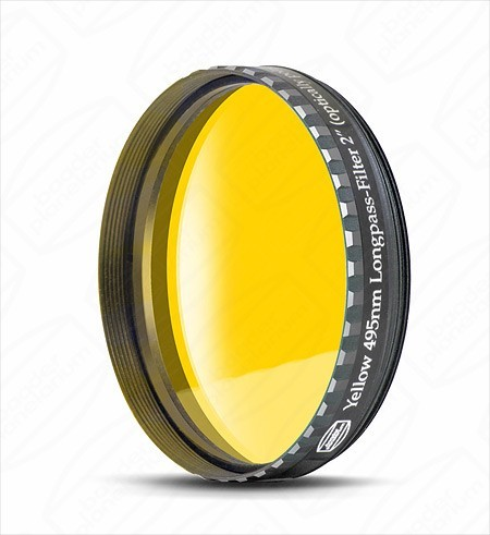 "Baader 2"" Yellow Eyepiece filter 495nm Longpass"