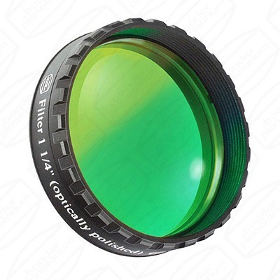 "Green 1 1/4"" Eyepiece filter 500nm Bandpass"