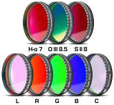 "Baader CCD Complete Filterset 2"" LRGBC, H-alpha 7nm, OIII 8.5nm, SII 8nm - 2mm thick, 8 Filters"