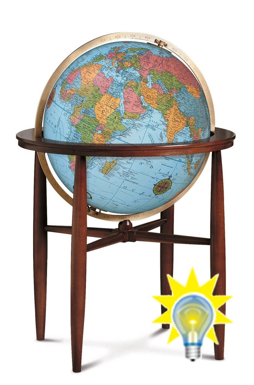 "20"" The Finley Blue Floorstanding Globe"