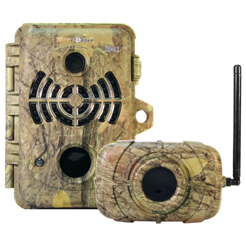 HD-12 Camo 12MP Trail / Surveillance Camera with 46 Black IR LED Illumination