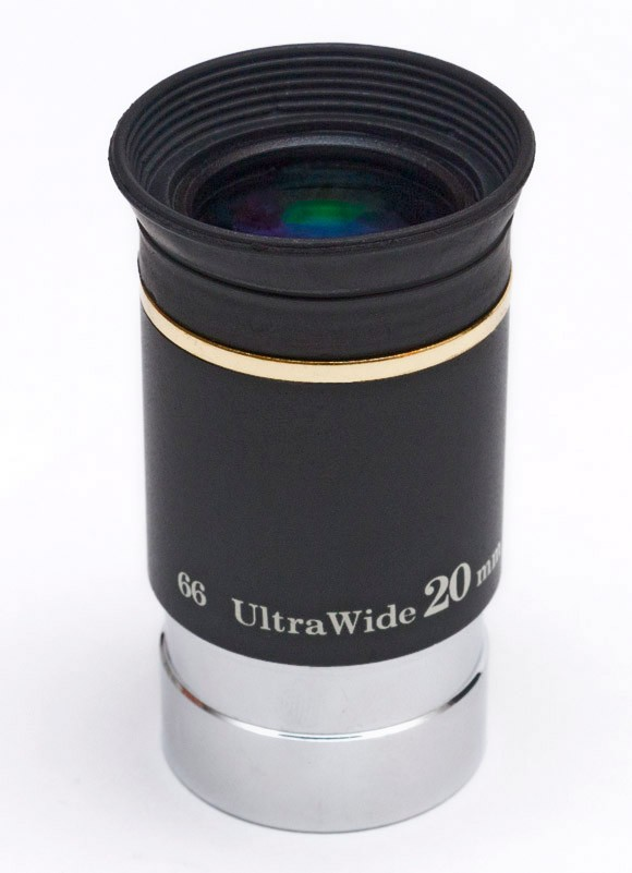 "TS Ultra Wide Angle Eyepiece 20mm 1.25"" 66° with Improved Coating"