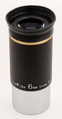 """TS Ultra Wide Angle Eyepiece 6mm 1.25"""" 66° with Improved Coating"""