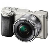Sony Alpha a6000 Compact System Camera with 16-50mm PZ Lens - SILVER
