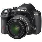 Pentax K-50 dSLR Camera with DAL 18-55mm WR Lens - BLACK