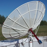 SPIDER230 2.3m Amateur Radio Telescope with RAL10PL Receiver and EQ6 Mount