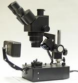 BTC LacGem-4 Gemological Plan Zoom Stereo Microscope with Trinocular Head and Four Types of Lighting
